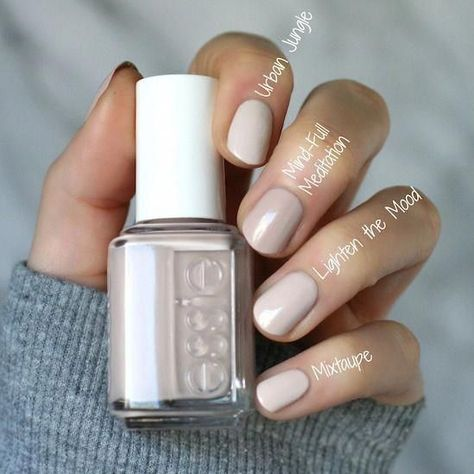Nagellackfarbe Essie Envy: Essie Serene Slates collection: swatches, ratings and comparisons - Nails Gelish, Essie Nail Polish Colors, Nude Nails, Acrylic Nails, Nail Nail, Essie Colors, Beige Nails, Cream Nails, Essie Spring Colors