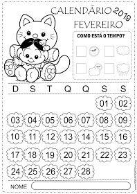 Calendarios Fevereiro 2019 Turma Da Monica Baby Educacao