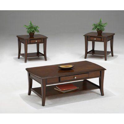 Albertus 3 Piece Coffee Table Set Cool Coffee Tables Cherry Coffee Table 3 Piece Coffee Table Set