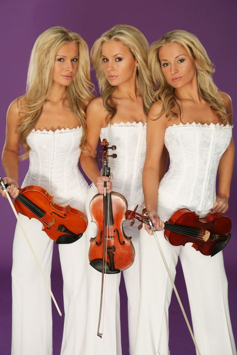 The sexy Alizma triplets are talented violinist, Aleksandra, Izabela and Monika