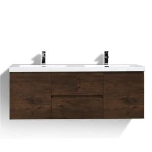 Bohemia 60 In W Bath Vanity In Rosewood With Reinforced Acrylic
