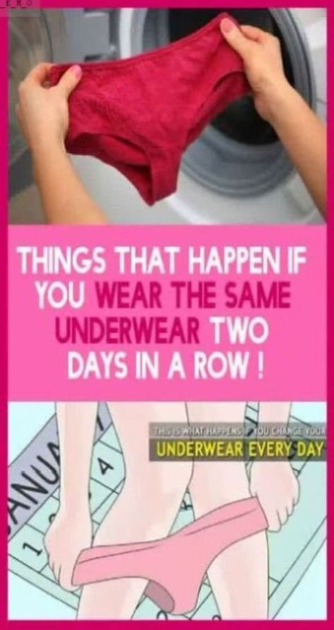 Ever wore your underwear more than a day? Read this!