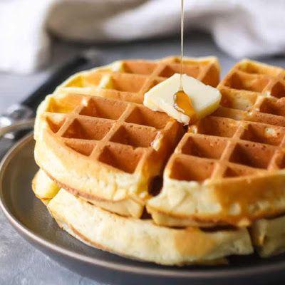 Homemade Waffle Recipe Yummly Recipe Homemade Waffles Waffle Recipes Waffles Recipe Homemade