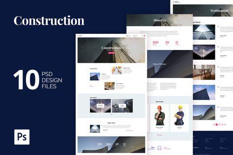 Construction Building Agency PSD Website Template