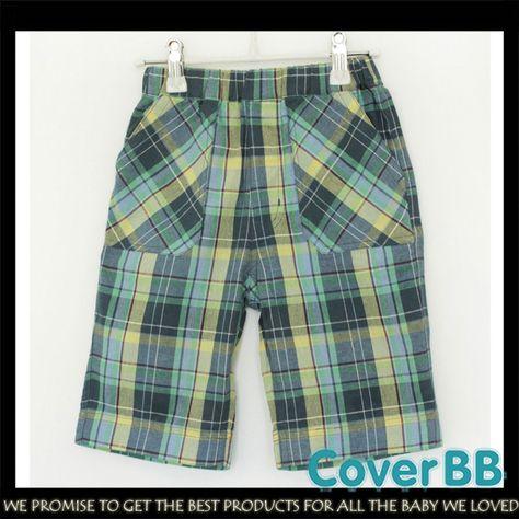 Gymboree Toddler Boys Lawn Green Plaid Shorts