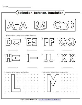 Translate Reflection Rotation Alphabet Reflection Math Translations Math Transformations Math