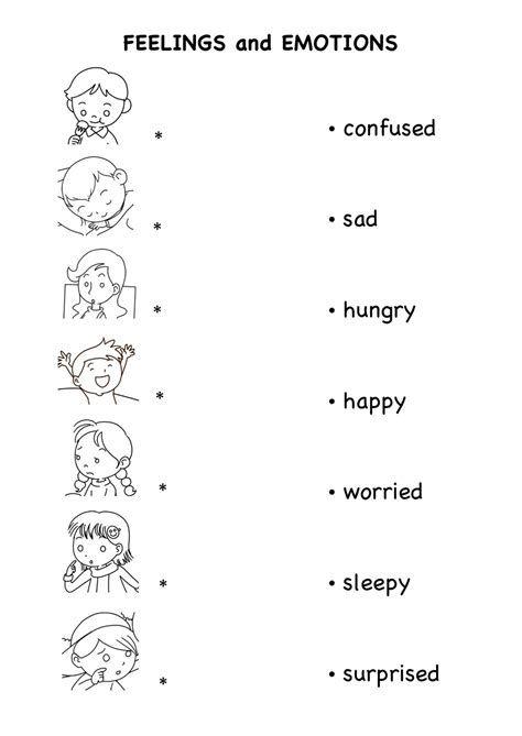 Emotions Worksheets For Kindergarten Pdf - Post Date : 23 Dec 2018(78)  Source Ht… English Lessons For Kids, English Worksheets For Kids,  Teaching Emotions