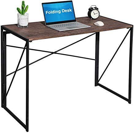 Coavas Klappbar Computertisch Baro Schreibtisch Keine Montage Pc Tisch Industrial Style Klapp Laptop Tisch Notebook Schreibtisch Far Home Baro Brown 100 X 50 X