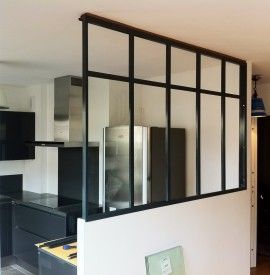 Cloisons maison on pinterest atelier room dividers and glass walls - Cloison vitree cuisine ...
