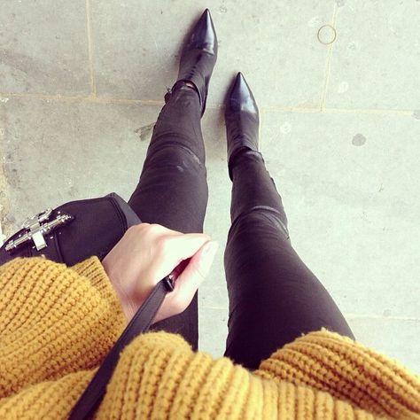 booties & chunky sweaters