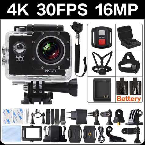 4K 30FPS 16MP WIFI Action Camera 2 Sports HD 1080P 60fps Cam