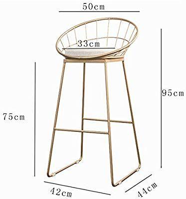 Biezutu Metal Bar Stools Counter Height Gold Bar Stool Leisure Kitchen Coffee Chair Dining Chair Pub Chair With Backrest Amazon De Kuche Haushalt