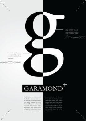Poster for Garamond font, an analysis.