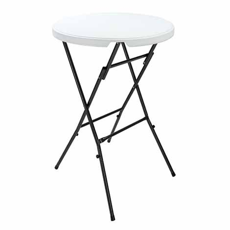 Table De Jardin Pliante Table Bistrot Blanc Ronde D Appoint