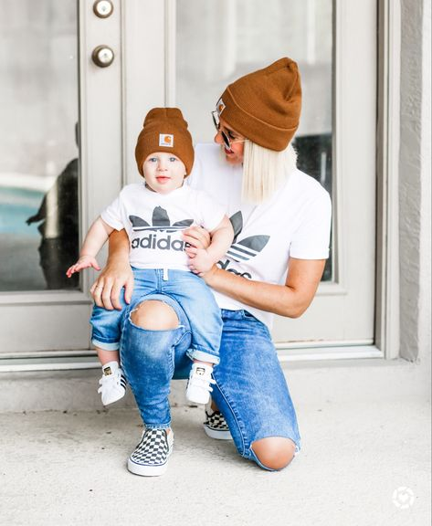 Mom And Son Outfits, Little Boy Outfits, Outfits With Hats, Matching Family Outfits, Casual Fall Outfits, Baby Boy Outfits, Mommy Fashion, Toddler Boy Fashion, Toddler Boy Outfits