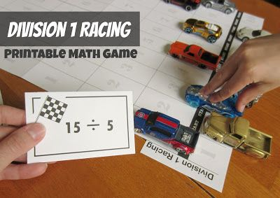 Relentlessly Fun, Deceptively Educational: Division 1 Racing [Printable Math Game]