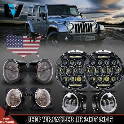 Ad Ebay For Jeep Wrangler Jk 07 17 7 Led Headlights Fog Turn