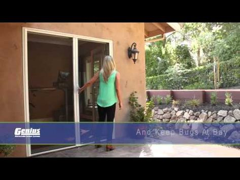 Metro Screenworks Offers French Retractable Screen Doors In Many Different Sizes Check Ou Retractable Screen Door Retractable Screen French Doors With Screens