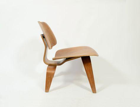 Beroemde Design Stoelen.Originele Eames Lounge Chair Wood Lcw 1950 Eames Stoelen En