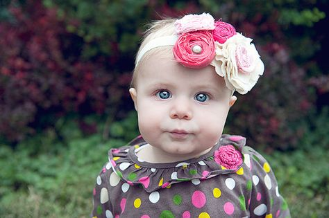 Rosy Couture Blossom Headband