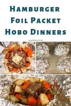 Hamburger Foil Packet Hobo Dinners Recipe Foil Packet Dinners Foil Dinners Foil Packet Meals