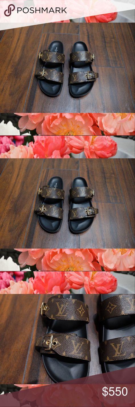 93f71eba7214 Louis Vuitton Monogram Bom Dia Mule Sandals 39 8 Worn more than a few times