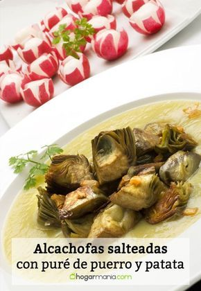 Receta De Alcachofas Salteadas Con Puré De Puerro Y Patata Karlos Arguiñano Recipe Veggies Food Brussel Sprout