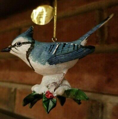 Ad eBay Url) Danbury Mint, Songbird Christmas Ornament, Blue Jay