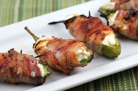 Bacon wrapped jalapenos. Not spicey once Delicioso!!!!