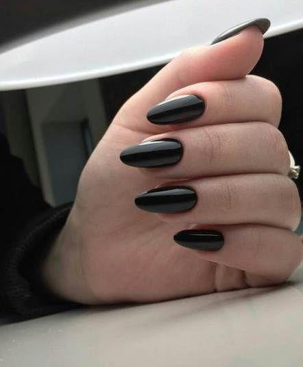 Nails Tumblr Black Polish 50 Best Ideas Almond Acrylic Nails Nail Ring Perfect Nails