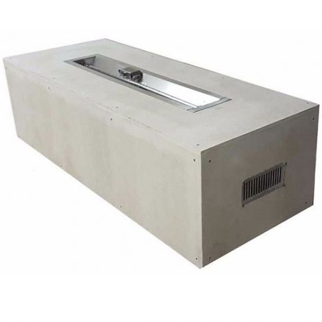 Our 60 Inch Rectangular Unfinished Fire Pit Kit Has Been Paired With A 36 Inch Stainless Steel Trough Burner Pan Made From Galvan Fire Pit Fire Pit Kit Trough