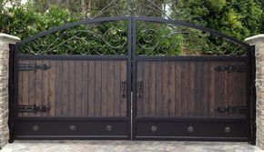 Beautiful Wrought Iron Gate Brown And Black Compliment Each Other
