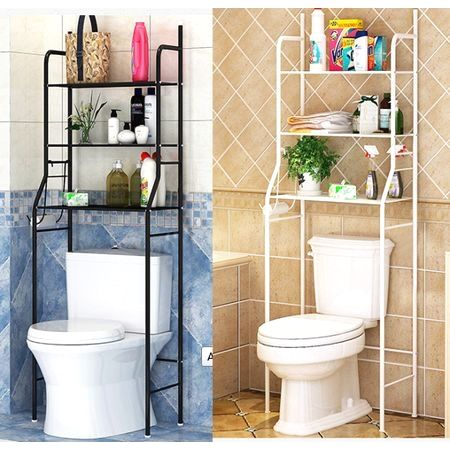 Home Improvement Over Toilet Storage Toilet Shelves Bathroom Space Saver