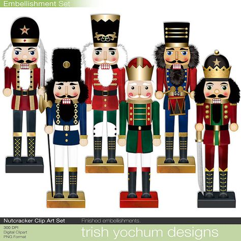 Christmas Nutcracker Clipart  Digital by TrishYochumDesigns, $3.50