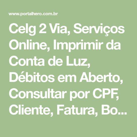 Celg 2 Via Conta De Luz Por Contrato Cpf Imprimir Contas