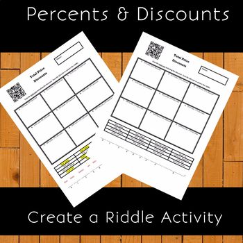 Percents and Discounts Create a Riddle Activity Percents