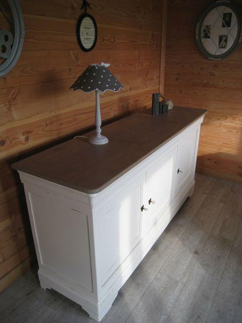 Buffet Louis XV Provence patine parme - Latelierdamepatine idées - comment patiner un meuble en merisier