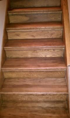 This Is Retrotread At Lowes For Turning Carpeted Stairs Into Hardwood Next Step Is Convincing My Husband That This Is A Oak Stairs Diy Stairs Stair Treads