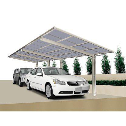 Ximax Aluminium Tandem Carport Portoforte Typ 60 Edelstahl-Look Überdachung