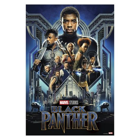 Black Panther Movie Posters Mural - Officially Licensed Marvel Removable Wall Adhesive Decal Large by Fathead | Vinyl