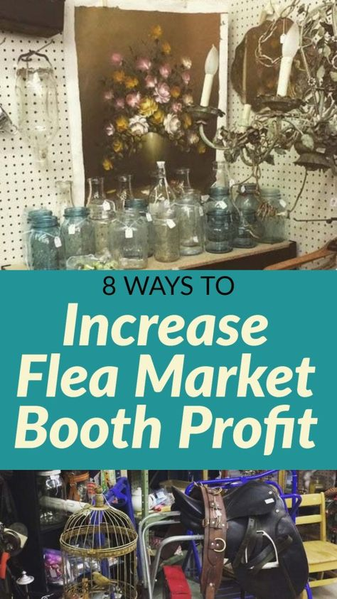 How to Succeed Running a Flea Market Booth: 8 Things I did Differently to Boost . - How to Succeed Running a Flea Market Booth: 8 Things I did Differently to Boost Profit – Hawk Hil - Vintage Booth Display, Antique Booth Displays, Antique Booth Ideas, Antique Mall Booth, Antique Stores, Flea Market Crafts, Flea Market Decorating, Thrift Store Crafts, Flea Market Finds