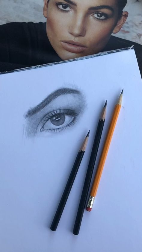 Photo of Quick sketch of an eye