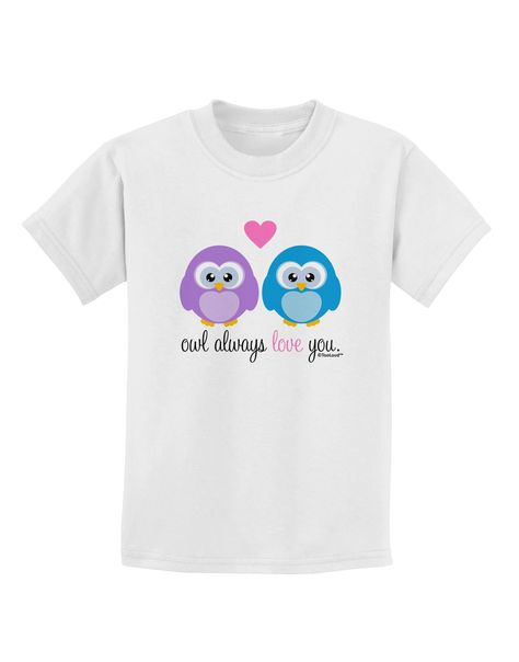 Purple Owls Dark Muscle Shirt TooLoud Owl Always Love You