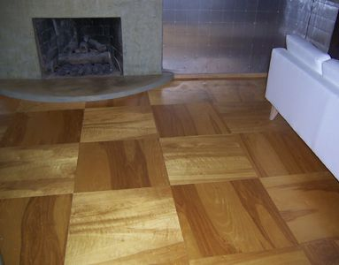 The Floor, Above, Appears To Be Full Sheets Of Birch Plywood With Exposed  Screws And Using Just A Urethane Finish. This Is From Luminhaus.