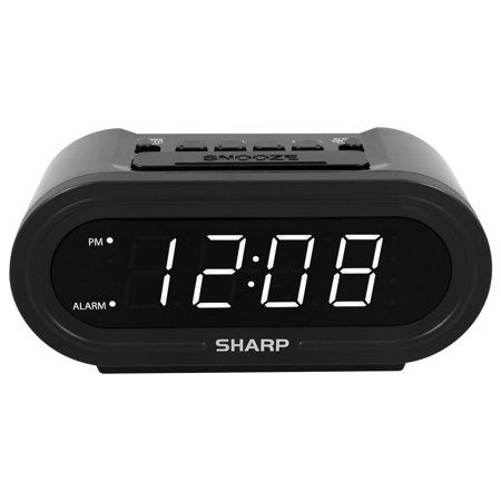 Sharp Accuset Alarm Clock With Display Dimmer Walmart Com In 2020 Alarm Clock Alarm Kids Alarm Clock