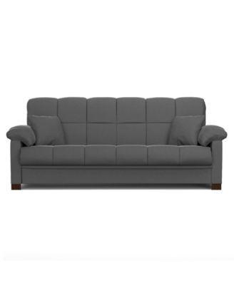 Maurice Microfiber Convert A Couch Macys Com Futon Sofa