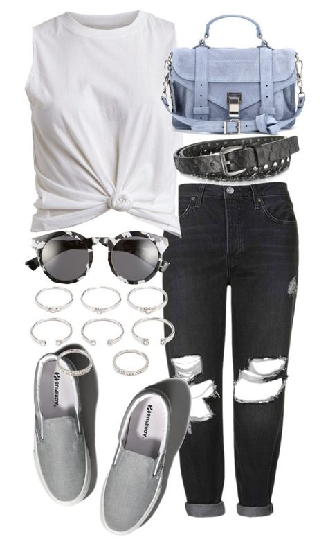 Untitled #18755 by florencia95 on Polyvore featuring polyvore, fashion, style, VILA, Topshop, Abercrombie & Fitch, Proenza Schouler, Forever 21, Illesteva and Forzieri