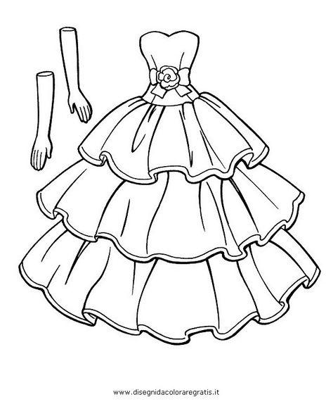 Vestiti Da Sposa Da Colorare.Disegno Vestiti Cerca Con Google Disegni Vestito Abiti Di