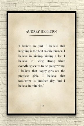 Classic book page art print featuring a popular quote from Audrey Hepburn. Great Christmas Gift idea! Size: 8x10 8.5x11 11x14 13x19 18x24 24x36 (make size selection at checkout) It has come to my attention that another shop on Etsy is not only copying my specific designs, but