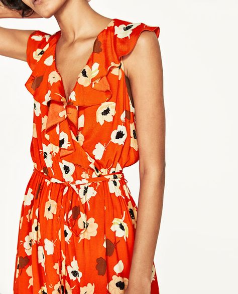 85e4e259 Image 6 of FLORAL PRINT CROSSOVER DRESS from Zara   Fashion ...